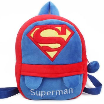 Toddler Backpack class Cute Children Schoolbag Cartoon Hero Superman LOGO Stitch Kindergarten Toddler Baby Small Backpack Plush Toy Bags Gifts Satchel AT_50_3