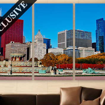 Cityscape Wall Art EXTRA LARGE Canvas Print 3 Panel Art Buildings Wall Art Wall Decor Fine Art Photography Print for Home & Office Wall Art