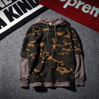 Unisex Lovers' Camouflage Long Sleeve Hoodies Sweater Pullover