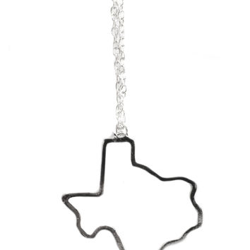 Cut-Out Texas Necklace (Silver)
