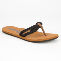 Reef Twisted Sky Womens Sandals Black  In Sizes