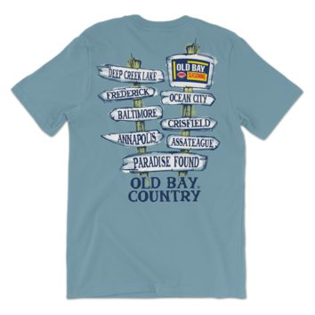 Old Bay Direction Sign (Ice Blue) / Shirt