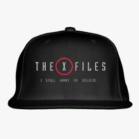 The X Files I Still Want To Believe  Embroidered Snapback Hat