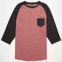 Retrofit End On End Mens Baseball Tee Red  In Sizes