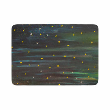"NL Designs ""Star Fields"" Blue Green Memory Foam Bath Mat"