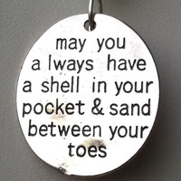 Beach Keychain Sand Between Your Toes by Wave of Life