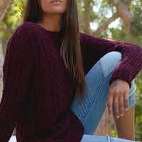 LA Hearts Cozy Cable Stitch Pullover Sweater at PacSun.com