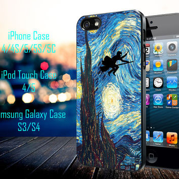 Harry Potter and Starry NIght Samsung Galaxy S3/ S4 case, iPhone 4/4S / 5/ 5s/ 5c case, iPod Touch 4 / 5 case