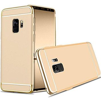 For Galaxy S9 Plus Case,JOBSS Hybrid Luxury Shockproof Armor Back Ultra-thin Case Cover Removable case for Samsung Galaxy S9 Plus Gold
