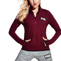 Reflective Fleece Half-Zip - PINK - Victoria's Secret