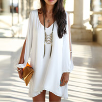 Bohemian Open Sleeve Dress