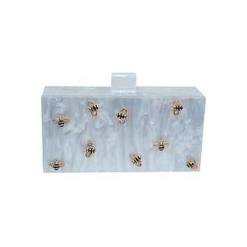 Bee Acrylic Box Clutch