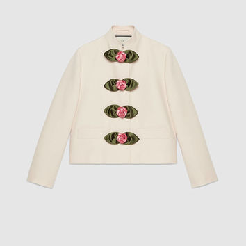 Gucci - Soave Amore Guccification wool silk jacket
