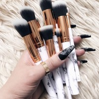 Marble Makeup Brushes