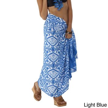 Handmade 1 World Sarongs Women's Abstract Tribal Sarong (Indonesia) | Overstock.com Shopping - The Best Deals on Sarongs/Cover Ups