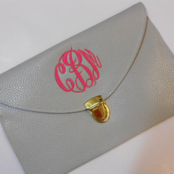 Monogram Clutch Purse Font Shown MASTER CIRCLE by MONOGRAMSINC