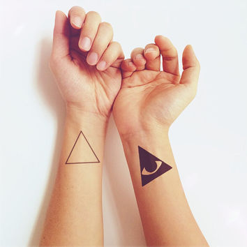 2pcs Set Triangle Eye - InknArt Temporary Tattoo - wrist quote tattoo body sticker fake tattoo wedding tattoo small tattoo