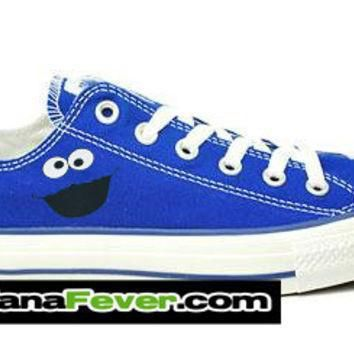 converse cookie monster graphic royal blue chuck taylor oxford free shipping by ba