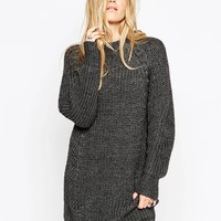 ASOS Chunky Jumper Dress with Cable Detail and Grown On Neck