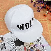 EXO XOXO FIRST YEAR WOLF WHITE KRIS LUHAN KAI LAY SNAPBACK HAT CAP FREE SHIP