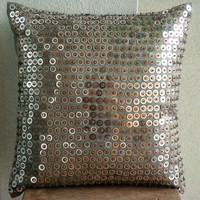 Accent Throw Pillow Covers 16 Inch Silk Pillow by TheHomeCentric