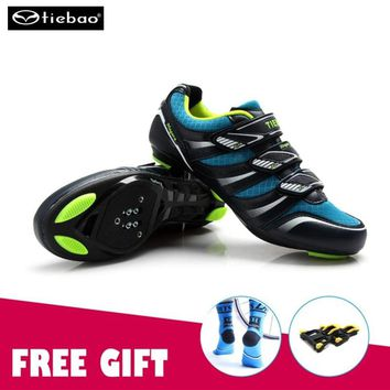 TIEBAO Road Racing Bike Shoes Ultralight Mens Breathable Athletic SPD Self-locking Professional MTB Cycling Bicycle sneakers