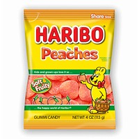 Haribo Peaches Gummi Candy, 5 oz (142 g)