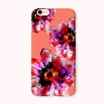 Floral iPhone 7 Case, iPhone 7 Plus Case, iPhone 6/6S Case, iPhone 6/6S Plus, iPhone 5/5S/SE Case, iPhone 5C Case - Flower Fashion