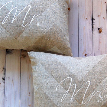 Wedding Pillow Mr. and Mrs. Pillow Monogram Pillow Zippy Cloud Denton Wedding Gift Anniversary Gift 12 x 16 Personalized Wedding