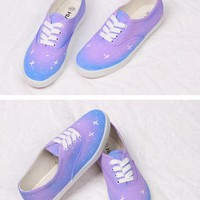 Cute sky world handmade shoes