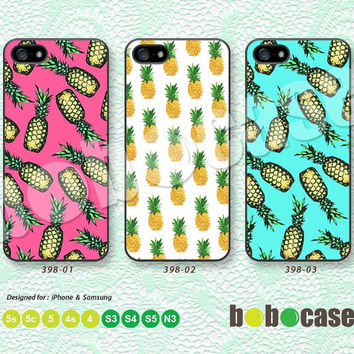Summer, Pineapple, Pop Art iPhone 5 case, iPhone 5C Case, iPhone 5S case, iPhone 4 Case, Phone Case, Phone Skin, Samsung Galaxy S4 A0398