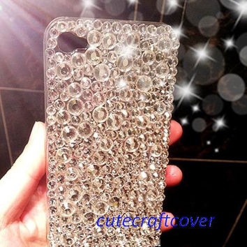 Glitter Galaxy s4 case swarovski crystals iPhone 4 case, clean crystals, iPod 5 case, bling htc one s case, iPhone 5 cover, iPhone 4