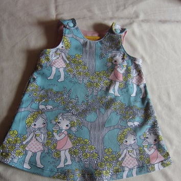 Bio Baby's turquoise summer dress in size 18-24 mo
