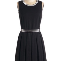 Short Length Sleeveless A-line Pros and Contrast Dress