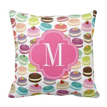 French Macarons Personalized Pillows