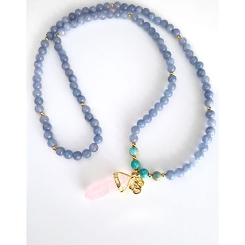 108 Joy Mala Necklace  | Mala beads | Yoga Gift
