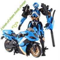 Motorcycle Model Transformative Al West Carroll Robot Car Action toys Anime Plastic Toys Action Figure Boys Gift For Boy Toys