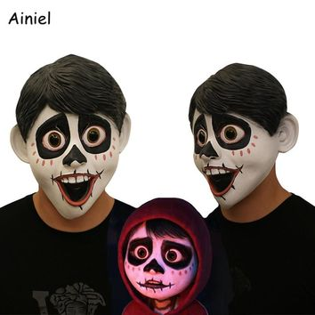 Movie Anime CoCo Miguel Mask Cosplay Costume Halloween Full Head Face Scary Latex Fancy Ball Helmet Props Masks Men Adult Kids