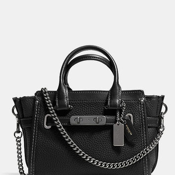 COACH SWAGGER 20 WITH CHAIN IN PEBBLE LEATHER | Dillards