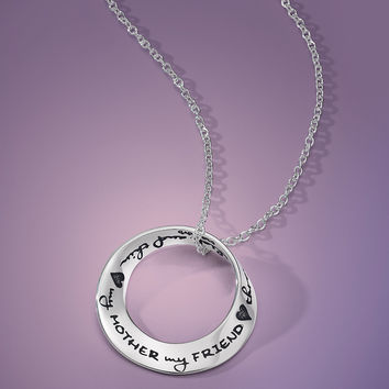 My Mother My Friend Through Thick And Thin Sterling Silver