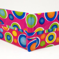 Multi colors circles Deco Pink Pattern Duct Tape Wallet