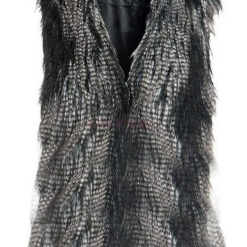 Women's Faux Fur Vest Gilet Sleeveless Coat Outerwear Waistcoat Women's Sweater SV005841|40901 = 1931490116