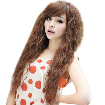 Womens Fashion Sexy long Full Curly Wavy Hair Wigs Cosplay Party Dress