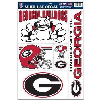"Licensed Georgia Bulldogs Official NCAA 11""x17"" MultiUse Car Decal by Wincraft 029126 KO_19_1"