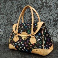 Rise-on LOUIS VUITTON MONOGRAM Multicolor Black BEVERLY GM Handbag #2