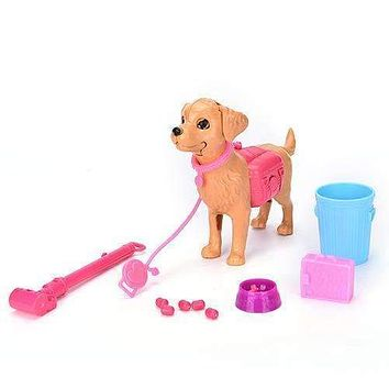 13pcs/set Greedy Dog Bowl Feeding bone Toy for Barbie Doll gift Furniture Doll Accessories