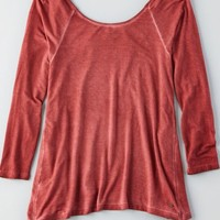 AEO Women's Soft & Sexy Cross Back T-shirt