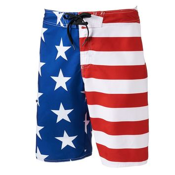 Hang Ten Stars & Stripes Board Shorts - Men, Size: