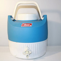 Vintage Coleman 1 Gallon Drink Cooler, Water Jug, Camping Insulated Container