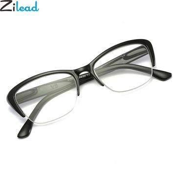 Zilead Half Frame Reading Glasses Women&Men Resin Clear Lens  Presbyopic Farsight Glasses Eyewear Wth Diopter +1.0to+4.0 Unisex
